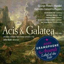Handel Acis and Galatea, Dunedin Consort