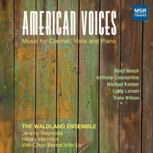 MS1541. American Voices: Music for Clarinet, Viola and Piano