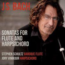 CD1295. JS BACH Sonatas for Flute and Harpsichord (Schulz & Vinikour)