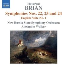 8 572833. BRIAN Symphonies Nos 22-24. English Suite No 1. Walker