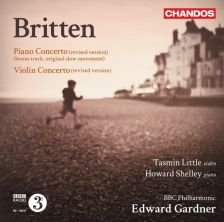 CHAN10764. BRITTEN Piano and Violin Concertos. Shelley/Little