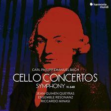 HMM90 2331. E BACH Cello Concertos. Symphony (Queyras)