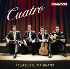 CHAN10786. Cuatro: A Tribute to the Music of Spain. Aquarelle Guitar Quartet