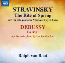 8 573576. DEBUSSY La Mer STRAVINSKY Rite of Spring (Solo Piano)