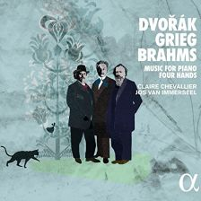 ALPHA282. BRAHMS; DVOŘÁK; GRIEG Music for Piano Four Hands