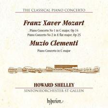CDA68126. F X MOZART Piano Concertos Nos 1 & 2 CLEMENTI Piano Concerto