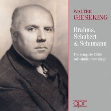 APR7402. Walter Gieseking: The Complete 1950s Solo Studio Recordings