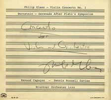 OMM0114. GLASS Violin Concerto BERNSTEIN Serenade after Plato's Symposium