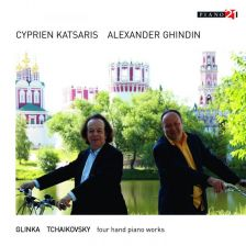 P21 046N. GLINKA; TCHAIKOVSKY Piano Music for Four Hands