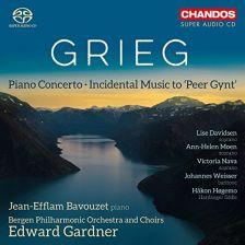 CHSA5190. GRIEG Piano Concerto (Bavouzet)