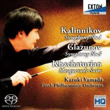 OVCL-00487. KALINNIKOV Symphony No 1 GLAZUNOV Symphony No 5
