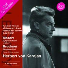 ICAC5102. MOZART Symphony No 41 BRUCKNER Symphony No 7. Karajan