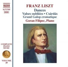 8 573705. LISZT Complete Piano Music: Dances (Filipec)