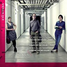 KTC1543. MARTINŮ Sonatina MOSZKOWSKI Suite