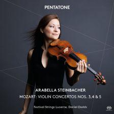 PTC5186 479. MOZART Violin Concertos Nos 3 - 5. Arabella Steinbacher