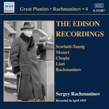 8 111407. Sergey Rachmaninov: Solo Piano Recordings, Vol 4