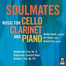 DE3536. Soulmates: Music For Cello, Clarinet, and Piano