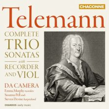 CHAN0817. TELEMANN Complete Trio Sonatas with Recorder and Viol