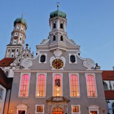 St Ulrich's Basilica: the venue claims a quasi-holy relic – a blond lock from Mozart's wig