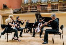 'For us this music is instinctive': the Pavel Haas Quartet with pianist Boris Giltburg (Photo: Marco Borggreve)