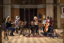 Rachel Podger and Brecon Baroque recording Bach's The Art of Fugue (photo: Jonas Sacks)