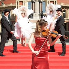 Nicola Benedetti at the Proms programme launch (photo: BBC/Elliott Franks)