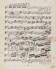 Engraved proof of the soloist's part of the Violin Concerto, with corrections by Sibelius