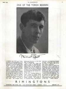 'One of the Torch Bearers' – Tippett's music advertised in Gramophone, March 1945
