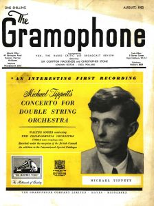 Walter Goehr's recording of the Concerto for Double String Orchestra advertised on the cover of the August 1952 Gramophone
