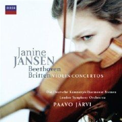 Janine Jansen plays Beethoven and Britten (Decca)
