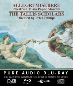The Tallis Scholars' Pure Audio Blu-ray disc