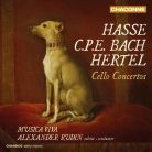 CHAN0813. CPE BACH; HASSE; HERTEL Cello Concertos