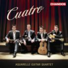 CHAN10786. Cuatro: A Tribute to the Music of Spain. Aquarelle Guitar Quartet
