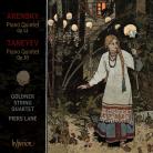 CDA67965. TANEYEV; ARENSKY Piano Quintets. Lane/Goldner String Quartet