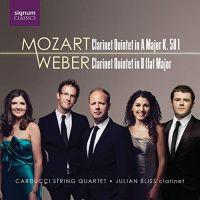 SIGCD552. MOZART; WEBER Clarinet Quintets (Bliss & Carducci Quartet)