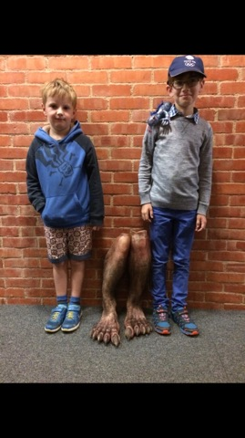 Tenor Ben Hulet's sons stand side-by-side with his goblin feet at Glyndebourne's production of Handel's Saul