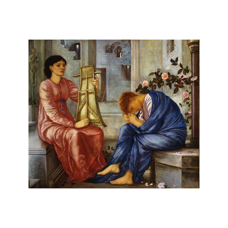 The Lament [1865-1866; Watercolour and bodycolour on paper mounted on canvas; Brangwyn gift, 1941. William Morris Gallery, London Borough of Waltham Forest]